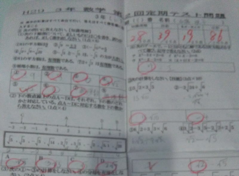4ヶ月で数学30点アップ